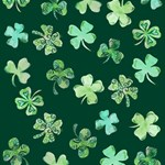 Lucky Shamrocks Storage Stool 12   Top