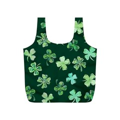 Lucky Shamrocks Full Print Recycle Bags (S)