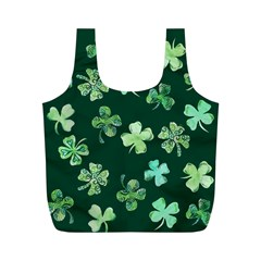 Lucky Shamrocks Full Print Recycle Bags (M)