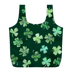 Lucky Shamrocks Full Print Recycle Bags (L)