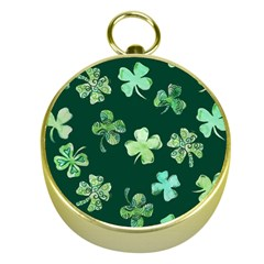 Lucky Shamrocks Gold Compasses