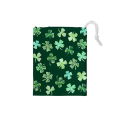 Lucky Shamrocks Drawstring Pouches (Small)