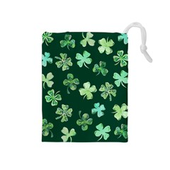 Lucky Shamrocks Drawstring Pouches (medium)