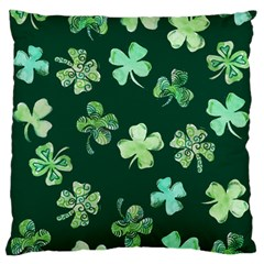 Lucky Shamrocks Standard Flano Cushion Case (Two Sides)