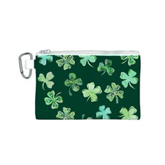 Lucky Shamrocks Canvas Cosmetic Bag (S)