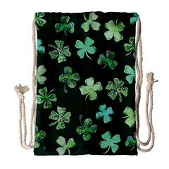 Lucky Shamrocks Drawstring Bag (Large)