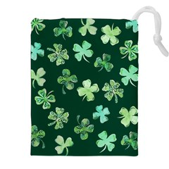 Lucky Shamrocks Drawstring Pouches (xxl)