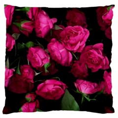 Pink Roses Large Cushion Case (two Sided)