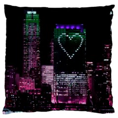 City By Night Large Cushion Case (two Sided)