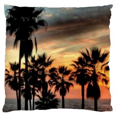 Palms Three Large Cushion Case (Two Sided)