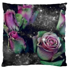 Shine Roses Large Cushion Case (two Sided)