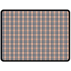 Chequered Plaid Fleece Blanket (large)