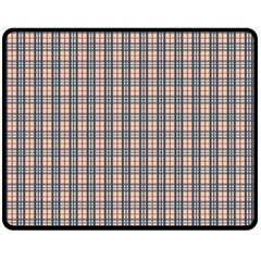 Chequered plaid Fleece Blanket (Medium)