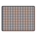 Chequered plaid Fleece Blanket (Small) 50 x40 Blanket Front