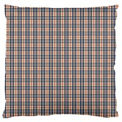 Chequered Plaid Large Flano Cushion Case (two Sides)