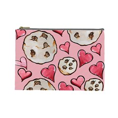 Chocolate Chip Cookies Cosmetic Bag (Large)