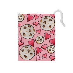 Chocolate Chip Cookies Drawstring Pouches (Medium)