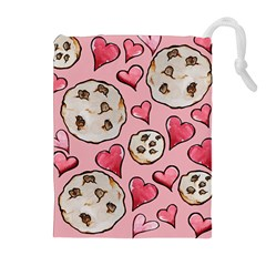 Chocolate Chip Cookies Drawstring Pouches (Extra Large)