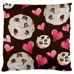 Chocolate Chip Cookies Large Cushion Case (two Sides)