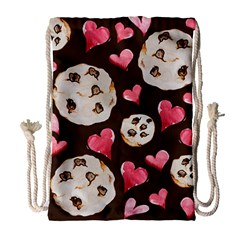 Chocolate Chip Cookies Drawstring Bag (large)