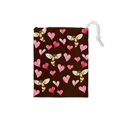 Honey Bee Love Bees Drawstring Pouches (Small)