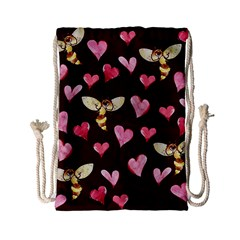 Honey Bee Love Bees Drawstring Bag (Small)