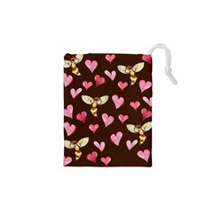 Honey Bee Love Bees Drawstring Pouches (XS)