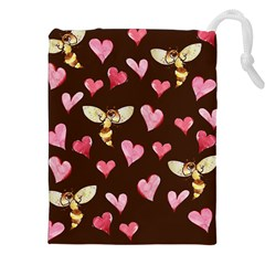 Honey Bee Love Bees Drawstring Pouches (XXL)