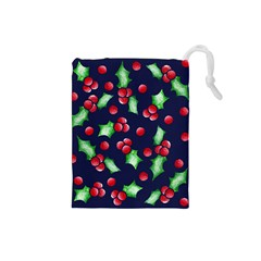 Holly Jolly Christmas Drawstring Pouches (Small)