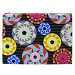 Colorful Retro Circular Pattern Cosmetic Bag (XXL) Front