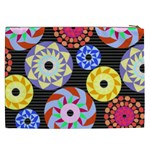 Colorful Retro Circular Pattern Cosmetic Bag (XXL) Back