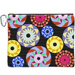 Colorful Retro Circular Pattern Canvas Cosmetic Bag (XXXL) Front