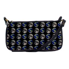 Moon And Earth Shoulder Clutch Bags