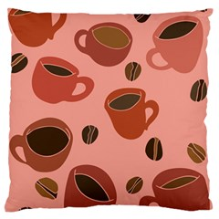 Coffee Lover Large Flano Cushion Case (Two Sides)