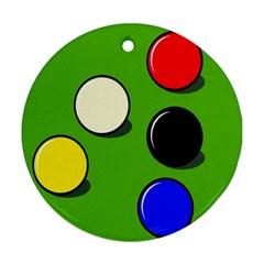 Billiard  Ornament (Round)