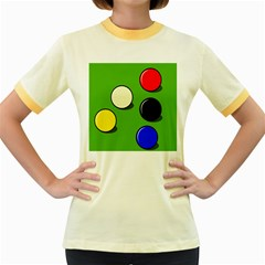 Billiard  Women s Fitted Ringer T-Shirts