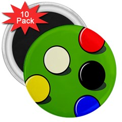 Billiard  3  Magnets (10 pack)