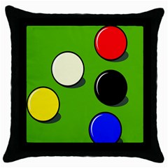 Billiard  Throw Pillow Case (Black)