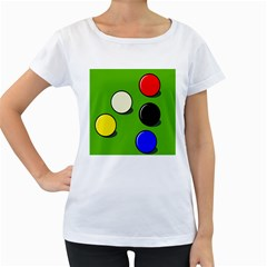 Billiard  Women s Loose-Fit T-Shirt (White)