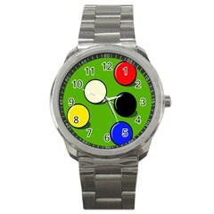 Billiard  Sport Metal Watch