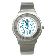 Seahorsesb Stainless Steel Watch