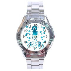 Seahorsesb Stainless Steel Analogue Watch