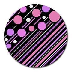 Purple transformation Round Mousepads