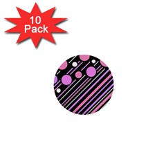 Purple transformation 1  Mini Buttons (10 pack)