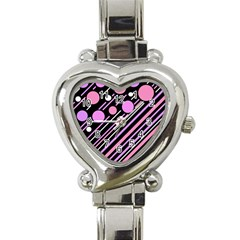 Purple transformation Heart Italian Charm Watch