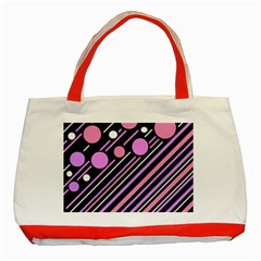 Purple transformation Classic Tote Bag (Red)