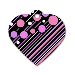 Purple transformation Dog Tag Heart (Two Sides)