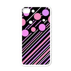Purple transformation Apple iPhone 4 Case (White)