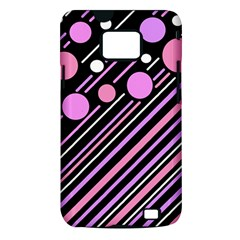 Purple transformation Samsung Galaxy S II i9100 Hardshell Case (PC+Silicone)