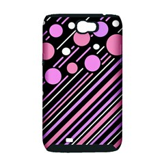 Purple transformation Samsung Galaxy Note 2 Hardshell Case (PC+Silicone)